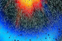 Macro Of Water Drops On Multic...