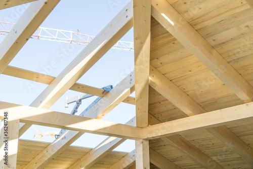 Cuadros en Lienzo Dachstuhl Holzdach