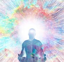 Meditation. Man In Lotus Position
