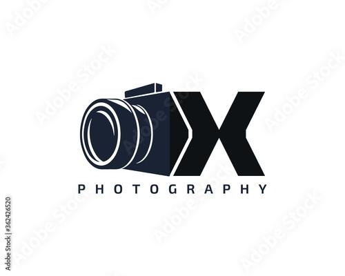 Fototapeta Initial Letter X Camera photography filmmaker logo design