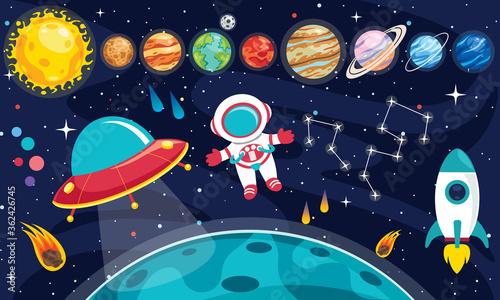 Obraz Colorful Planets Of Solar System - fototapety do salonu