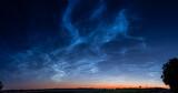 Fototapeta Na sufit - obłoki srebrzyste na niebie w Polsce