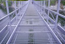 Steel Bridge Over The River
