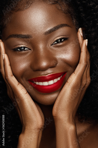 Fotografie, Tablou Beauty fashion portrait of African American young woman