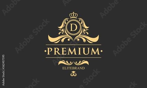 Vászonkép Luxury monogram logo template object logo vector