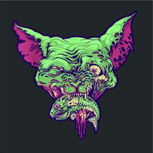 Sphynx Zombie Cat Eating Fish ...
