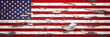 american flag grunge METAL background