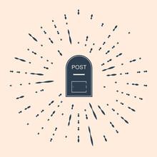 Black Mail Box Icon. Post Box ...