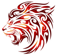 Lion Tattoo With Fire Flames