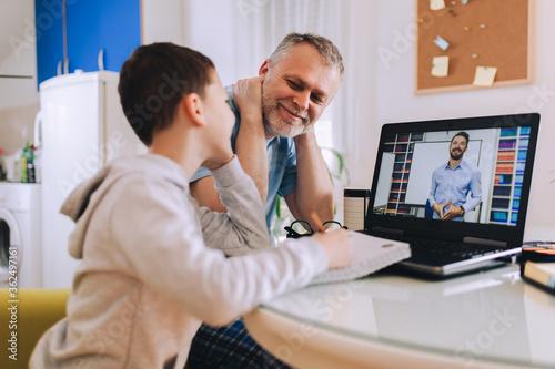 Fotografia Schoolboy educate online