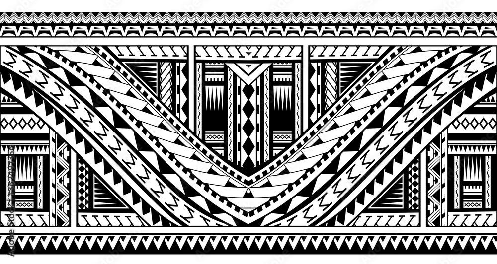 Fototapeta Polynesian style tattoo