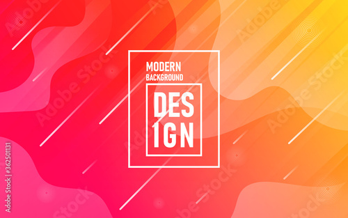 Fotografie, Tablou Abstract Modern Gradient Multicolor Geometric Dashed Line Pattern Background