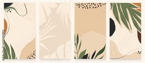 Trendy abstract artistic templates for social media platform. Modern universal vector illustrations. Soft pastel colors.