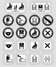 Warning Signs On Transparent B...