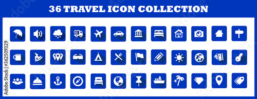 Cuadros en Lienzo Travel logo collection for business purpose