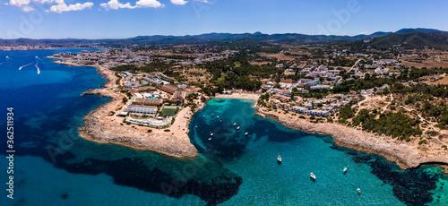 Obraz Port des Torrent beach. Ibiza. - fototapety do salonu