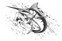 Marlin Fish Logo.Sword Fish Fi...