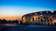 Colosseum In The Night At Rome...