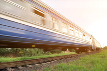 A High-speed Diesel Train Move...