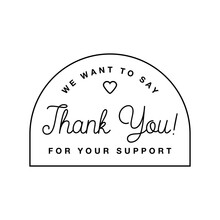 Badge With Thank You Graphics ...