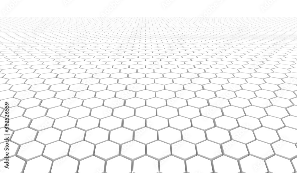Fototapeta Sota hexagon 3D background texture. 3d rendering illustration. Futuristic abstract background.