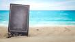 Leinwanddruck Bild - Summer background of free space and blue sky