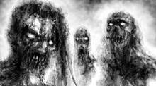 Scary Demonic Zombies With Glo...