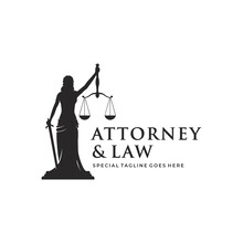 Woman / Lady Law Concept, Lawyer, Justice Design Template