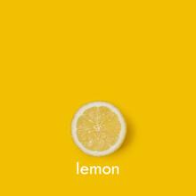 Rodaja De Limón Sobre Un Fond...