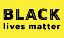 Black Lives Matter Sign Vector...