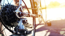 Close Up Shoot Of Bicycle Chai...