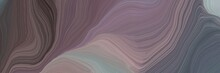Inconspicuous Colorful Modern Soft Swirl Waves Background Illustration With Dim Gray, Rosy Brown And Dark Gray Color