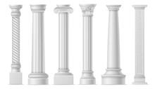 Antique White Columns. Roman H...