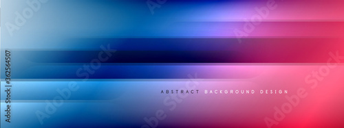 Motion concept neon shiny lines on liquid color gradients abstract backgrounds. Dynamic shadows and lights templates for text - 362564507