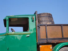 Old French Truck With Grapes D...