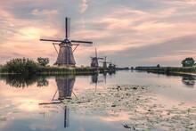 Windmill Village In The Netherlands Zaanse Schans