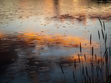 Sunset Over The Lake, Rain Dro...