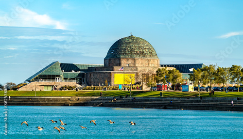 Photo The Adler Planetarium, a public museum dedicated to the study of astronomy and a