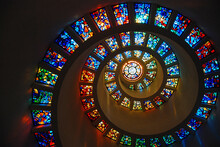 Spiral Stained Glass At The Th...