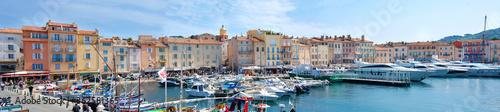 Fototapeta Hafen in der Bucht von Saint-Tropez, Panorama obraz