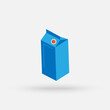 Milk package. vector Simple modern icon design illustration.