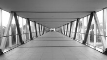 Covered Bridge In City