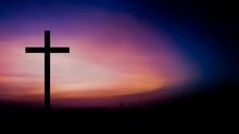 Jesus Cross Symbol With Colorf...