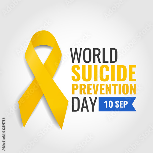 Obraz na plátně Vector Illustration of world suicide prevention day