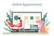 Depilation and epilation online service or platform. Hair removal