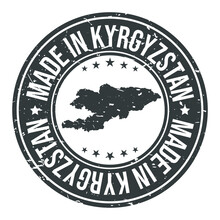 Made In Kyrgyzstan Symbol. Sil...