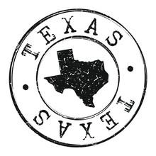 Texas Silhouette Postal Passpo...