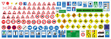 Vector European Road Signs Wit...