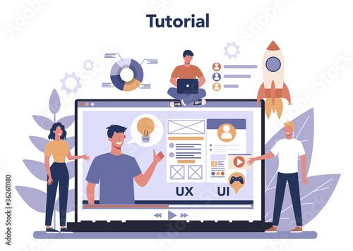 UX UI designer online service or platform. App interface Fototapet