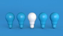Blue Bulbs With White Differen...